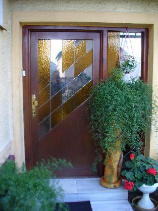 Modřínové vchodové dveře